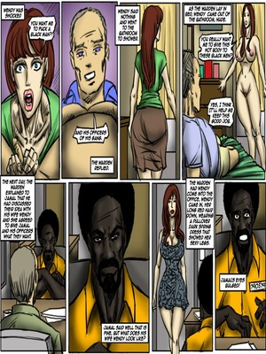 Interracial Comics Prison Control- illustrated interracial Porn Comic 04