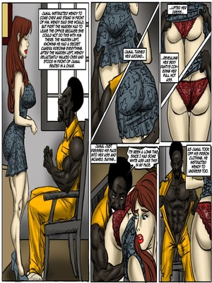 Interracial Comics Prison Control- illustrated interracial Porn Comic 05