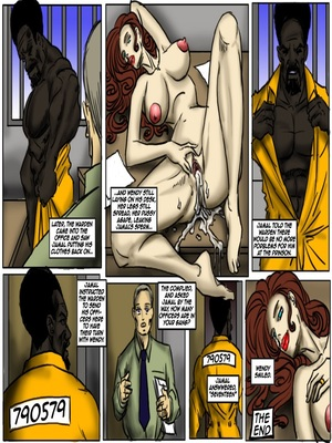 Interracial : Prison Control- illustrated interracial Porn Comic