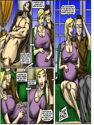 Interracial : Pub Night Pick Up- illustrated interracial Porn Comic