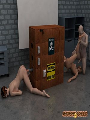 3D Porn Comics Raunchy School- A Fucking Machine Workshop for Two Hotties Porn Comic 28