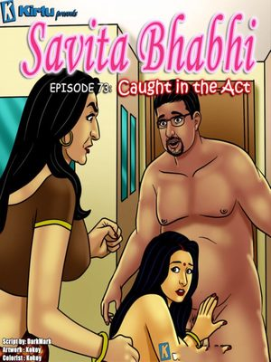 Adult Comics Savita Bhabhi 73- Caught in the Act Porn Comic 01