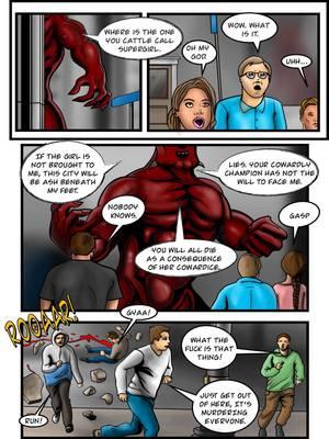 Porncomics Supergirl- Demonic Bloodsport Part 3 Porn Comic 16