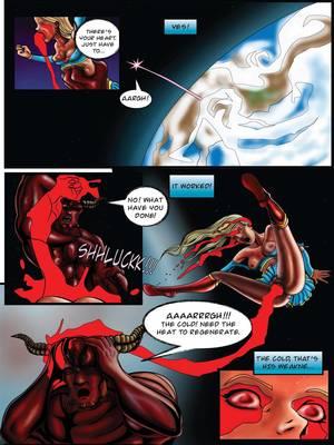 Porncomics Supergirl- Demonic Bloodsport Part 3 Porn Comic 34