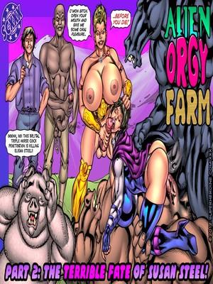 Porn Comics - SuperHeroineComixxx- Alien Orgy Farm – Part 2 free Porn Comic