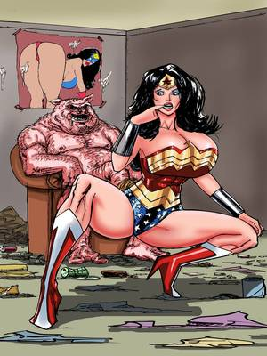 Porn Comics - Superposer- Wonder Woman vs Porkum free Porn Comic