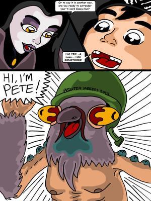 Porncomics Teenage Mutant Ninja Turtles. Bat versus Bat Porn Comic 09