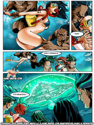 Adult Comics The Adventurers 2- Underwater Lovin Porn Comic 09
