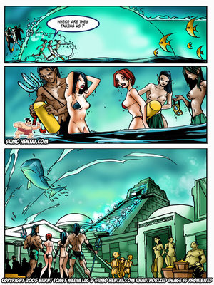 Adult Comics The Adventurers 2- Underwater Lovin Porn Comic 10
