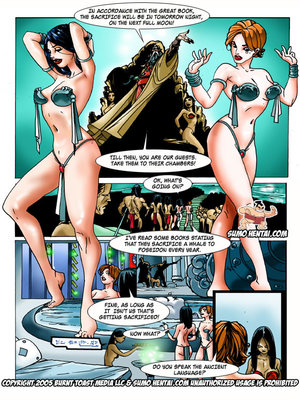 Adult Comics The Adventurers 2- Underwater Lovin Porn Comic 13
