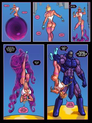 The Pit- Power Girl vs Darkseid (Superman) free Porn Comic