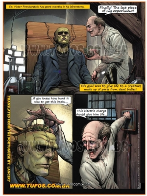 Adult Comics Tufos, Gang of Monsters 2 (English) – Frankenstein Porn Comic 02