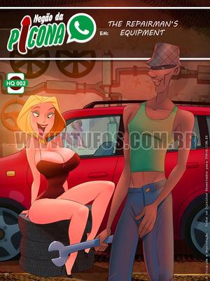 Porncomics Tufos- Negao da Picona 2- The Repairman's Equipment Porn Comic 01