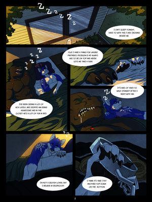 Furry Comics WFA- Black and Blue Porn Comic 01
