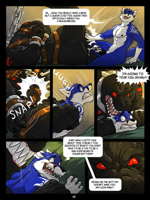 Furry Comics WFA- Black and Blue Porn Comic 10