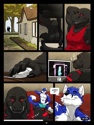 Furry Comics WFA- Black and Blue Porn Comic 13