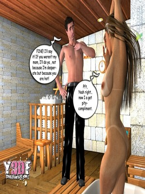Y3DF Comics Y3DF- Sauna with mom Porn Comic 18