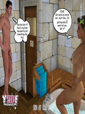 Y3DF- Sauna with mom Porn Comic