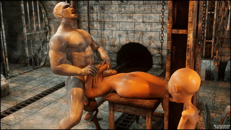 blackadder 3D porn comics below the city