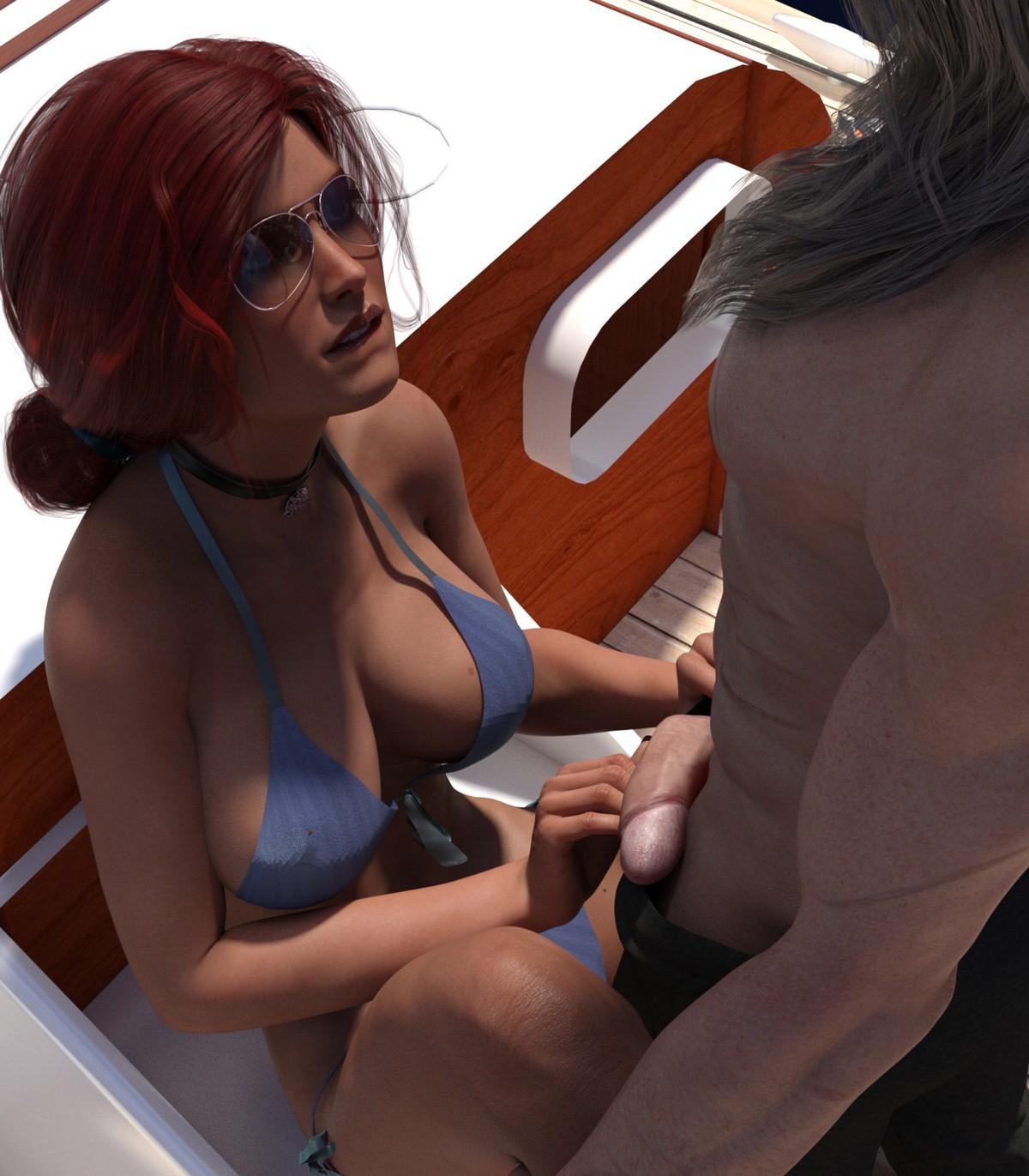 3D Porn No Glasses 3d : eclesi4stik- triss's summer porn comic - hd porn comics