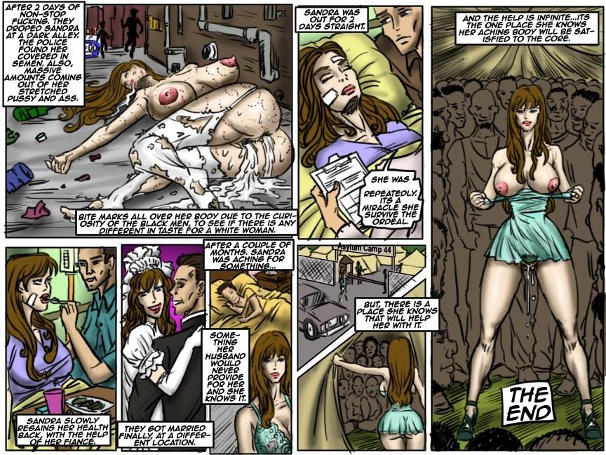 cartoon Interracial gangbang porn