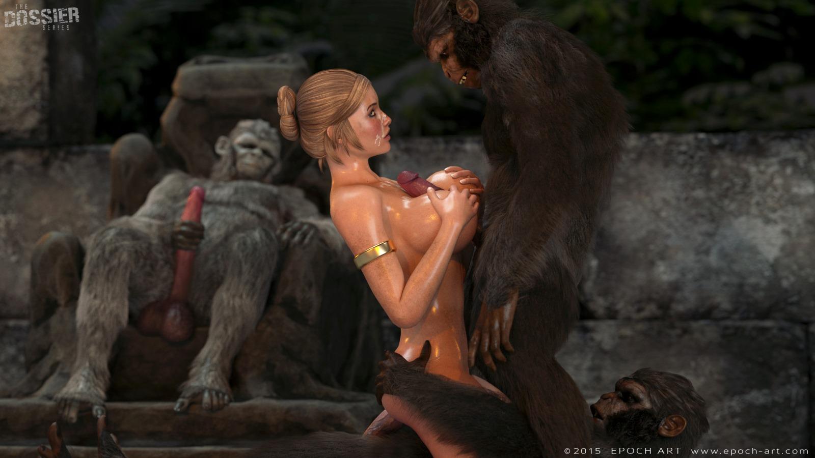 Секс с обезьянами 3д монстры порно онлайн