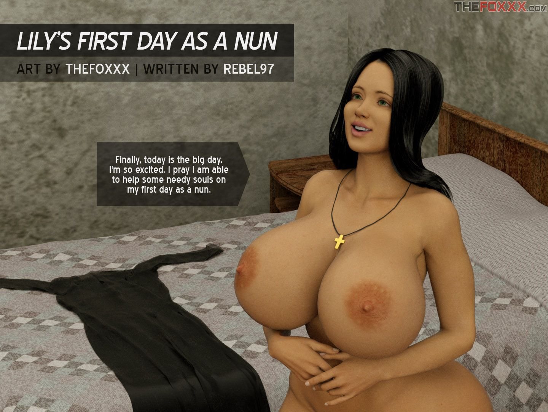 3D Pregnant Porn 3d : the foxxx- lily's first day as a nun porn comic - hd