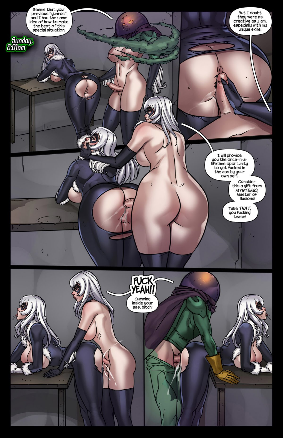 Tracy Scops- The Sinister Six Against The Black Cat Porncomics image 06 ...